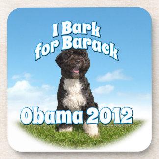 Raspo para Barack, BO el primer perro Obama Posavasos De Bebida