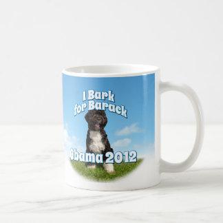 Raspo para Barack, BO el primer perro Obama Tazas De Café