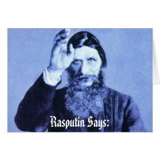 Rasputin Says: Card