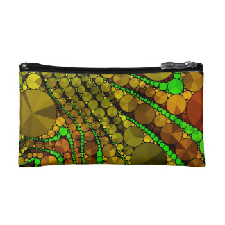Rasta Abstract Bling Pattern Makeup Bag