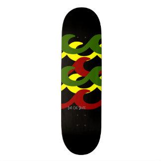 Rasta agita la cubierta del monopatín patin personalizado