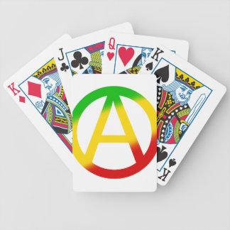 Rasta Anarchy Symbol Bicycle Playing Cards