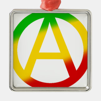 Rasta Anarchy Symbol Christmas Tree Ornament