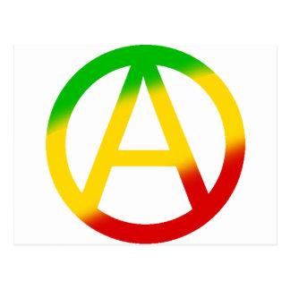 Rasta Anarchy Symbol Postcard
