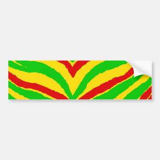 Rasta Animal Stripes Bumper Sticker