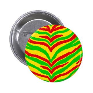 Rasta Animal Stripes Pin