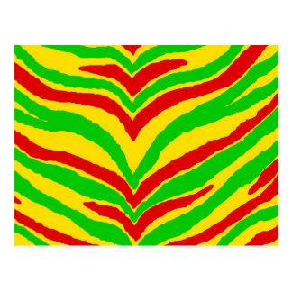 Rasta Animal Stripes Postcard