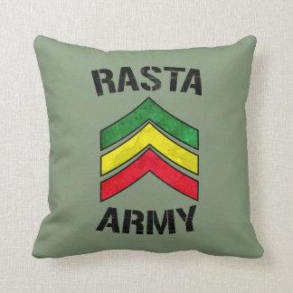 Rasta army throw pillow