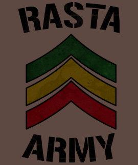 Rasta army t shirt