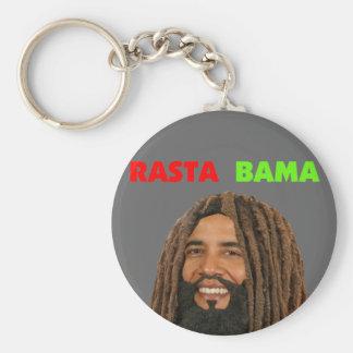 Rasta Bama, President Obama in Dreadlocks Keychain