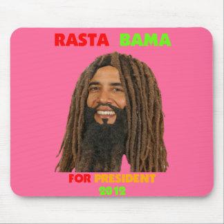 Rasta Bama, presidente Obama en Dreadlocks Alfombrillas De Raton