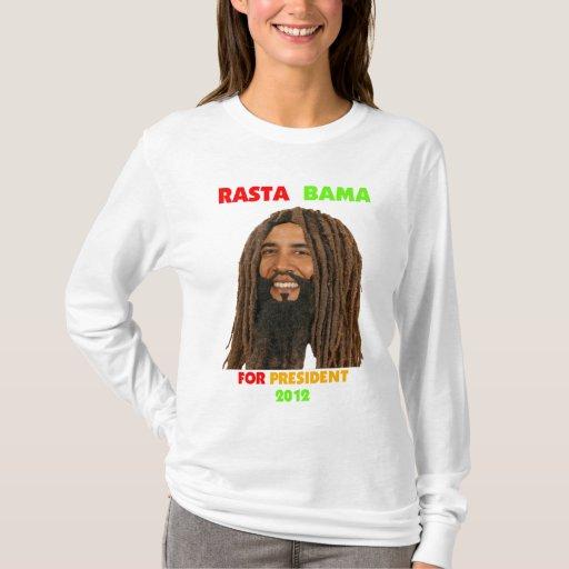Rasta Bama, presidente Obama en Dreadlocks Playera
