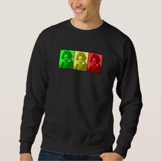 rasta beethoven pull over sweatshirt