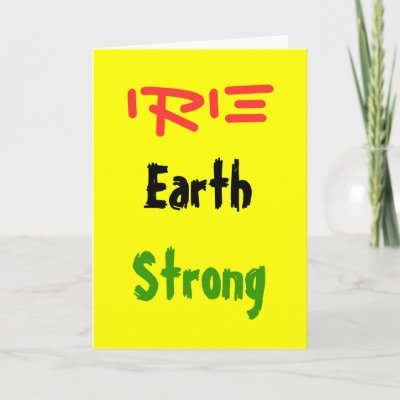 Rasta earthstrong greeting cards zazzle m4hsunfo