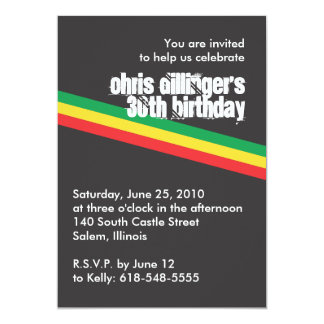 Rasta Birthday Invitation