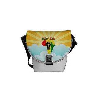 Rasta Black Power Fist Africa Mini Messenger Bag