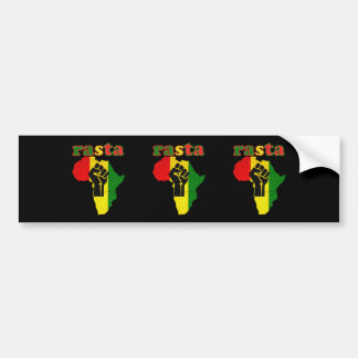 Rasta Black Power Fist over Africa Bumper Sticker