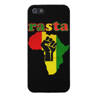 Rasta Black Power Fist over Africa Cover For iPhone SE/5/5s