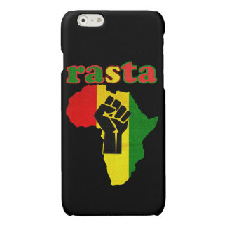 Rasta Black Power Fist over Africa Glossy iPhone 6 Case