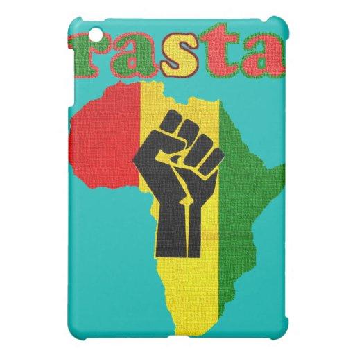 Rasta Black Power Fist over Africa iPad Mini Case