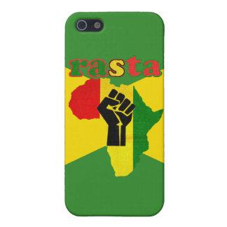 Rasta Black Power Fist Over Africa iPhone SE/5/5s Cover