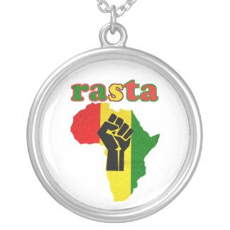 Rasta Black Power over Africa Necklace - White