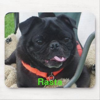 Rasta black PUG Mouse Pad