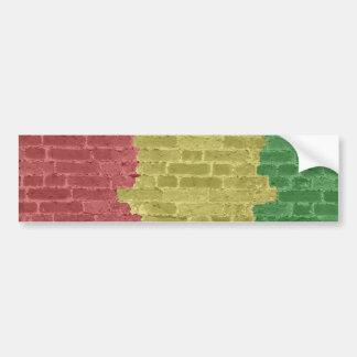 Rasta Brick Bumper Sticker