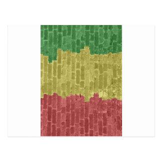 Rasta Brick Postcard