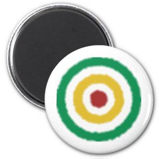 Rasta Bullseye 2 Inch Round Magnet