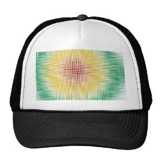 Rasta Bullseye Lines Trucker Hat