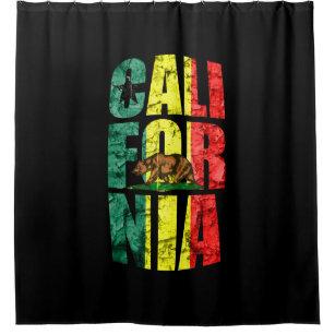 Awesome Rasta California Shower Curtain