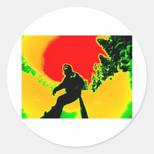 Rasta Classic Round Sticker