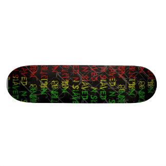 rasta color graffiti  deck skateboards