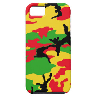 Rasta Colored Camouflage iPhone 5 Cover