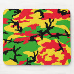 Rasta Colored Camouflage Mouse Pad