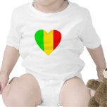 Rasta Colored Heart T Shirts