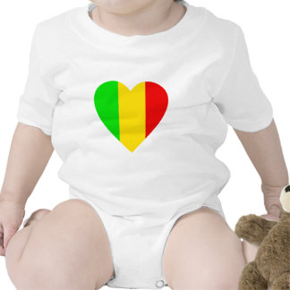 Rasta Colored Heart T Shirts