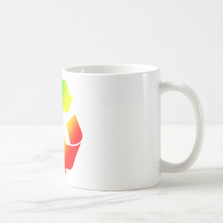 Rasta Colored Recycle Sign Coffee Mug
