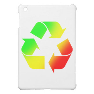 Rasta Colored Recycle Sign iPad Mini Cover
