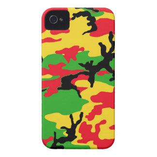 Rasta coloreó camuflaje Case-Mate iPhone 4 carcasa