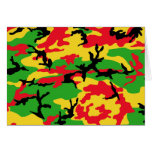 Rasta coloreó camuflaje tarjeta de felicitación