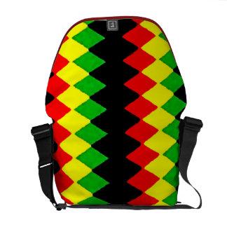 Rasta coloreó la bolsa de mensajero del carrito de bolsas messenger
