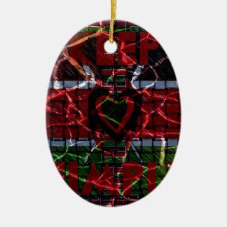 Rasta colors ceramic ornament