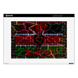 Rasta colors decal for laptop