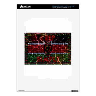 Rasta colors decals for iPad 3