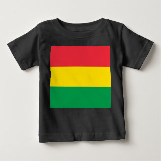 Rasta Colors Green Yellow Red Stripes Flag Pattern Baby T-Shirt