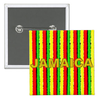 Rasta Colors Jamaica Red Gold and Green Buttons