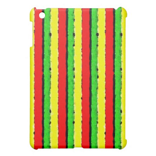 Rasta Colors Jamaica Red Gold and Green Cover For The iPad Mini