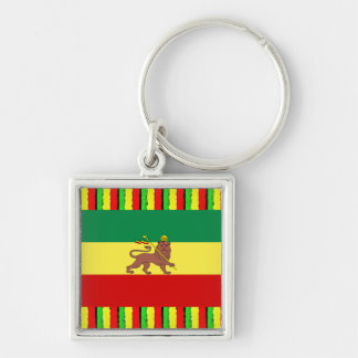 Rasta Colors Jamaica Red Gold and Green Keychain